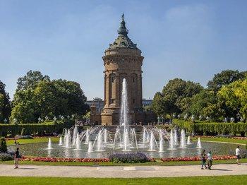 Wasserturm und Augustaanlage Mannheim, Copyright: Stadtmarketing Mannheim GmbH